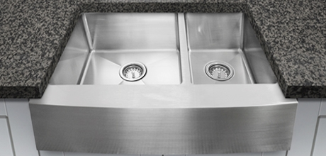 Double bowl sink LUX-DB755AF